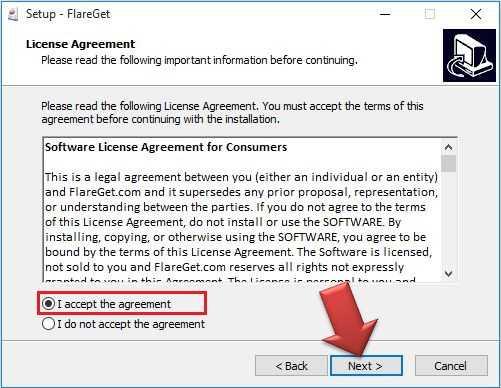 شرح تنصيب فليرجيت Flareget للكمبيوتر (5)