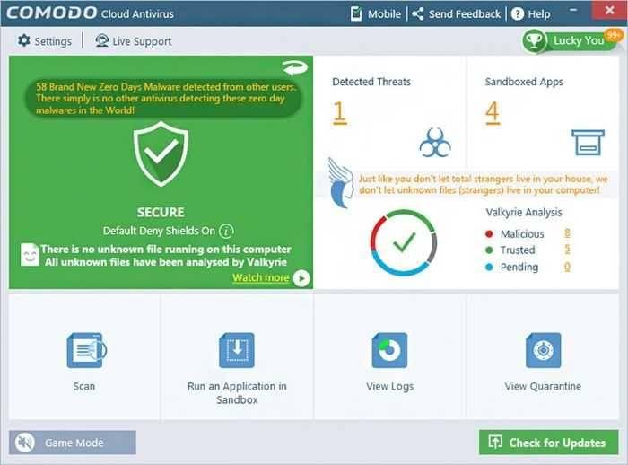 تحميل برنامج Comodo Cloud Antivirus للكمبيوتر