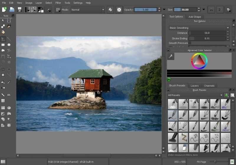 تحميل برنامج تحرير وتعديل الصور Krita للكمبيوتر