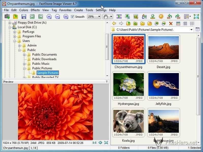 تحميل برنامج عارض ومحرر الصور FastStone Image Viewer للكمبيوتر