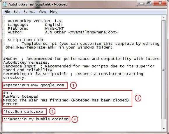 تحميل برنامج استخدام مفاتيح الاختصار الاوتوماتيكي AutoHotkey للكمبيوتر