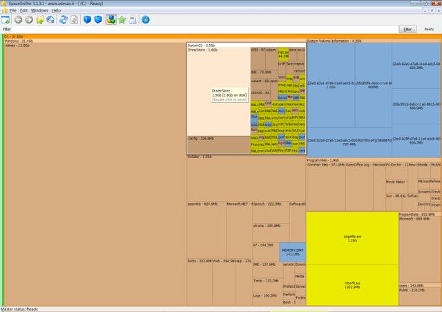 تحميل برنامج تنظيم الملفات والمجلدات على القرص الصلب SpaceSniffer للكمبيوتر
