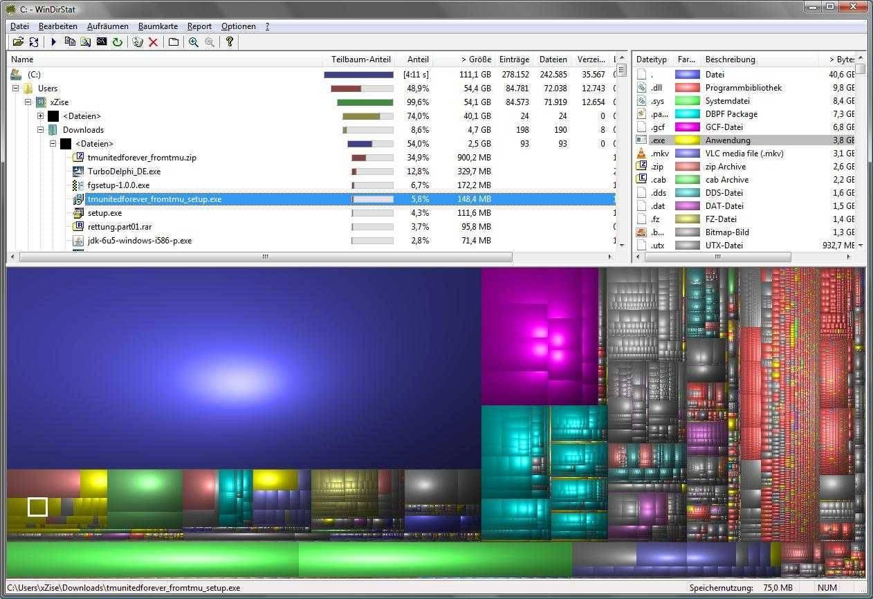 تحميل برنامج تحليل ملفات القرص الصلب WinDirStat للكمبيوتر مجانا