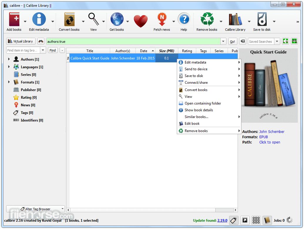 تحميل برنامج تنظيم وقراءة مكتبتك الالكترونية Calibre للكمبيوتر مجانا برابط مباشر