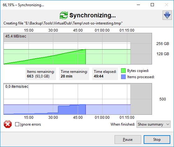 تحميل برنامج النسخ الأحتياطي ومزامنة الملفات FreeFileSync للكمبيوتر