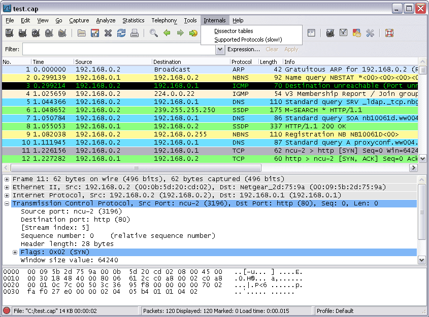 تحميل برنامج بروتوكول محلل شبكة ويندوز Wireshark للكمبيوتر