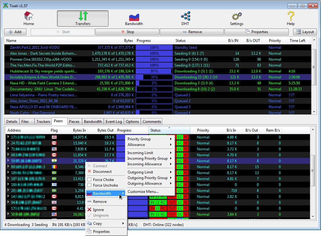 تحميل برنامج مشاركة التطبيقات ومدير التنزيلات Tixati للكمبيوتر مجانا