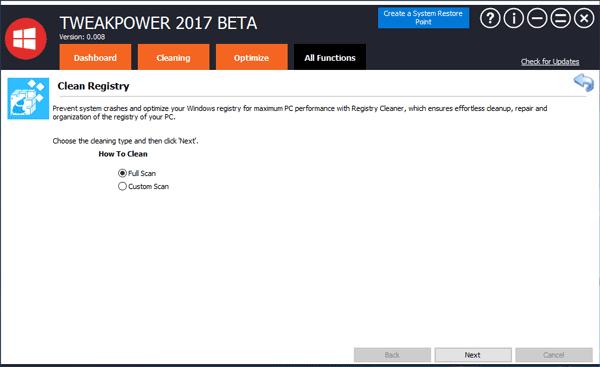 تحميل برنامج TweakPower لتسريع وتنظيف وتحسين أداء الكمبيوتر