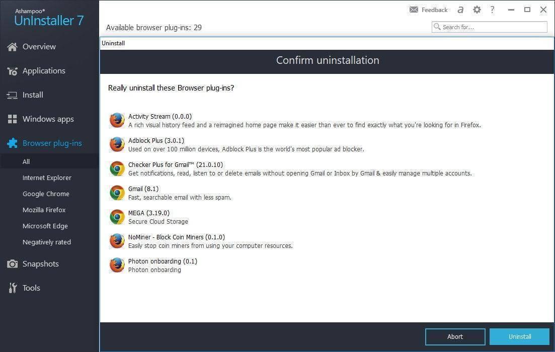 تحميل برنامج ازالة البرامج من جذورها Ashampoo UnInstaller للكمبيوتر برابط مباشر