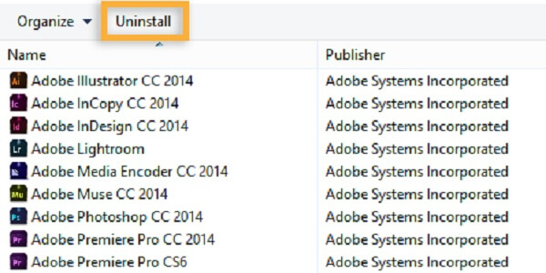 uninstall adobe creative cloud tool