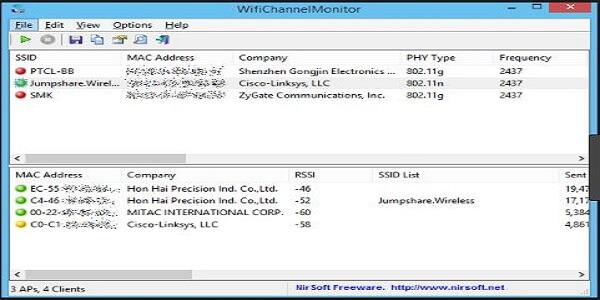 تحميل برنامج Acrylic WiFi 2019 لتحليل شبكات الـ WiFi