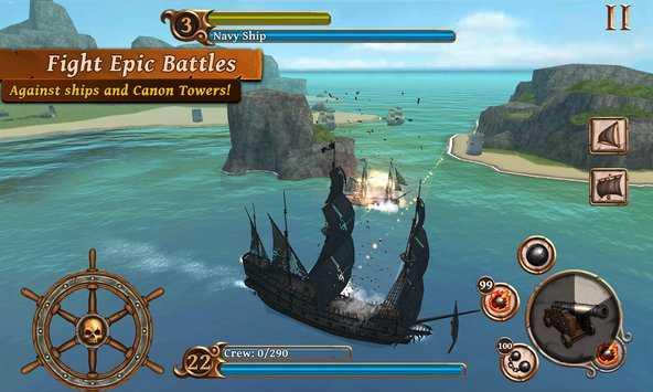 تنزيل سفن سن معركة القراصنة APK للاندرويد